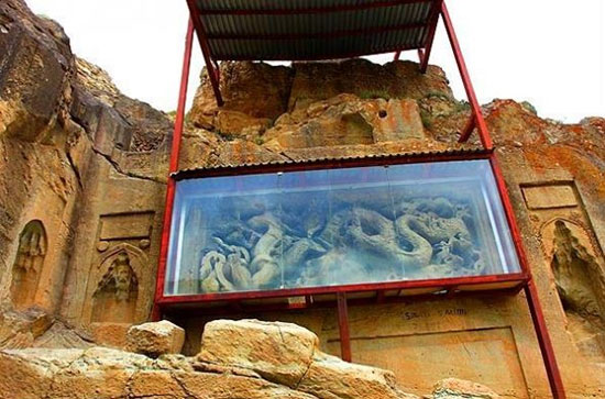 اژدهای بودایی در دل کوههای ایران (+عکس)