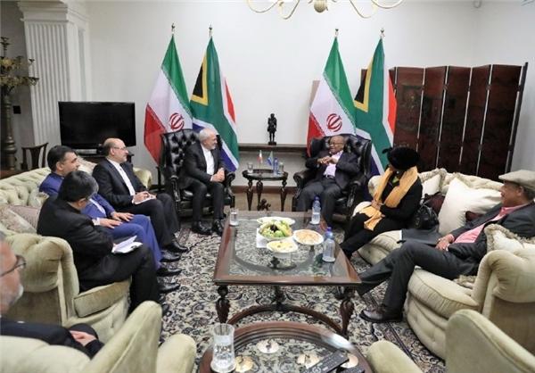 دیدار ظریف با رییس جمهور آفریقای جنوبی (+عکس)