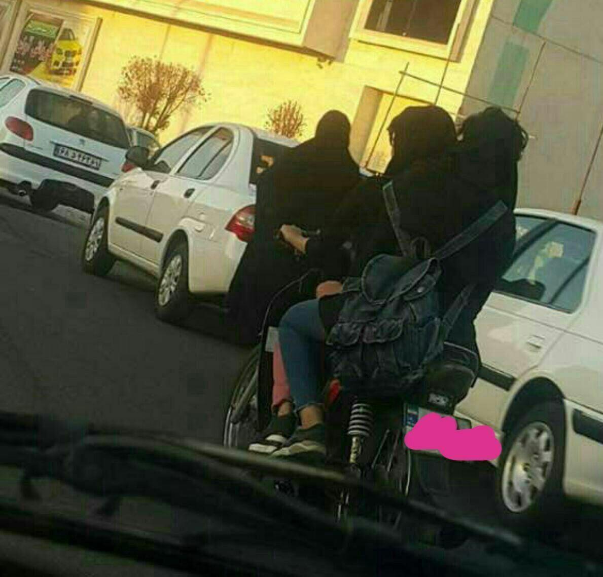 پلیس: با 2 دختر هنجارشکن موتورسوار برخورد کردیم (+عکس)