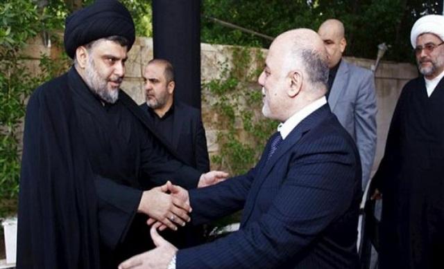 دیدار مقتدی صدر و العبادی در کربلا (+عکس)