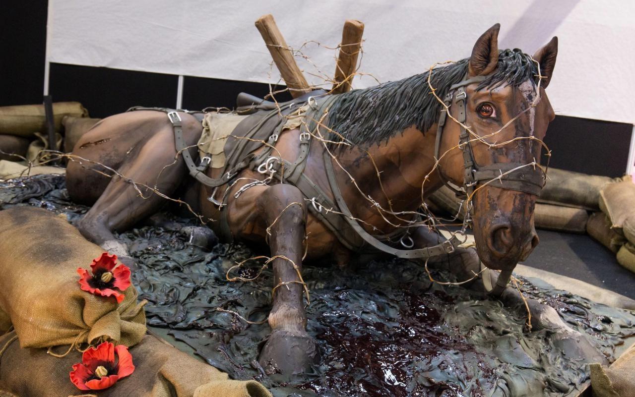 کیکی در ابعاد واقعی یک اسب (عکس)