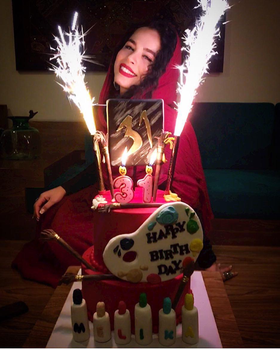 مليكا شريفى نيا در شب تولد ٣١ سالگى اش (عکس)
