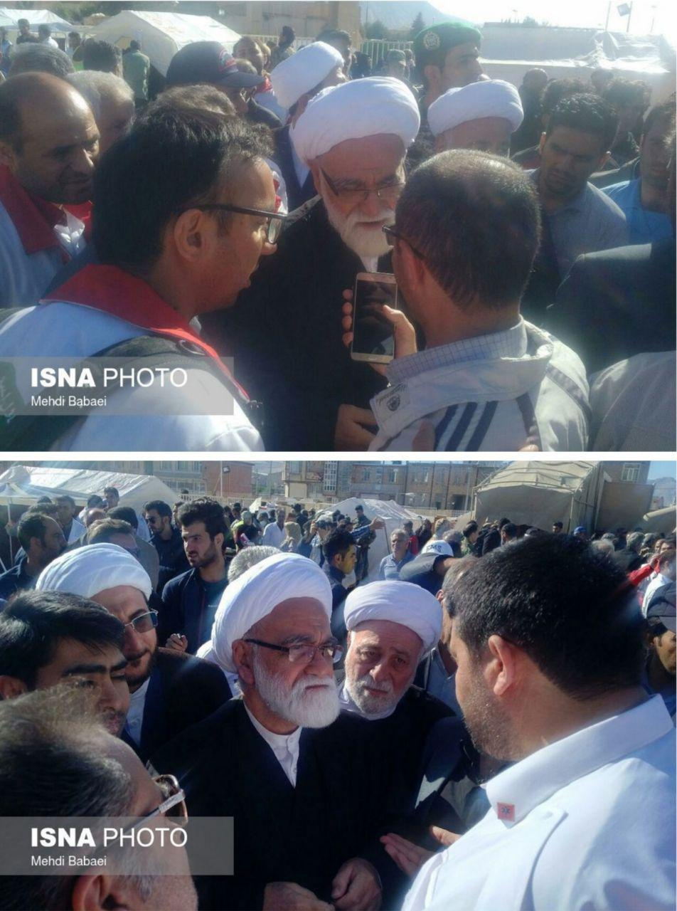 ورود نماینده ویژه مقام معظم رهبری به مناطق زلزلهزده (+عکس)