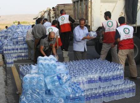 توزیع 1.5 میلیون بطری آب معدنی در مناطق زلزلهزده