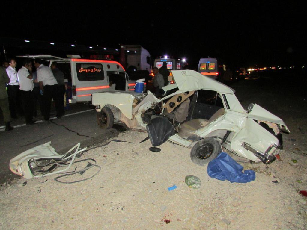 5 کشته در تصادف جاده استان فارس (+عکس)
