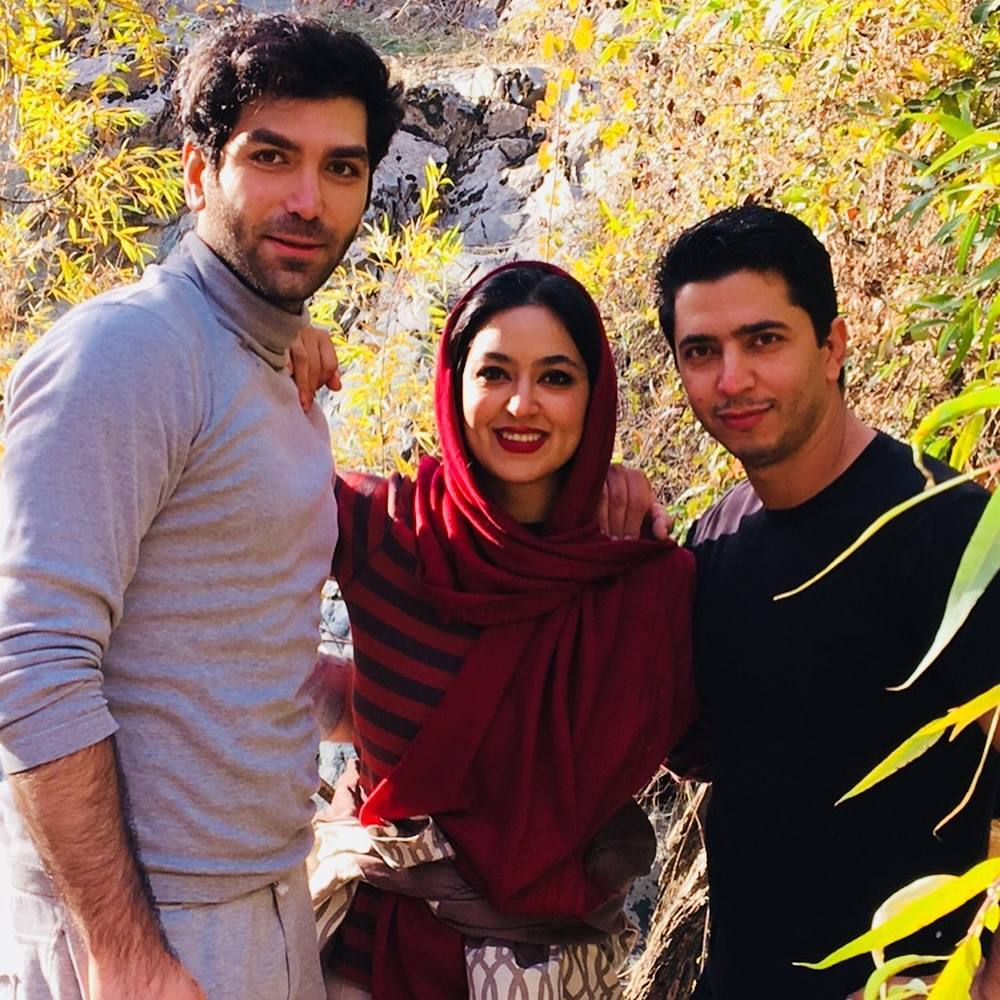 فریبا طالبی به همراه همسر و برادرش (عکس)