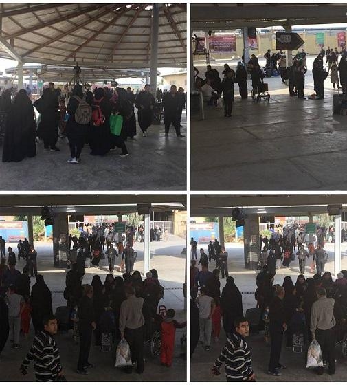 وضعیت مرز مهران دو هفته مانده به اربعین (عکس)