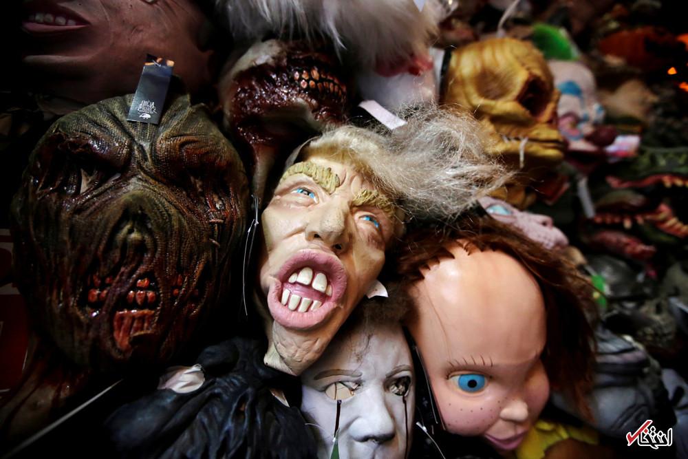 فروش ماسک ترسناک دونالد ترامپ در مکزیک (عکس)