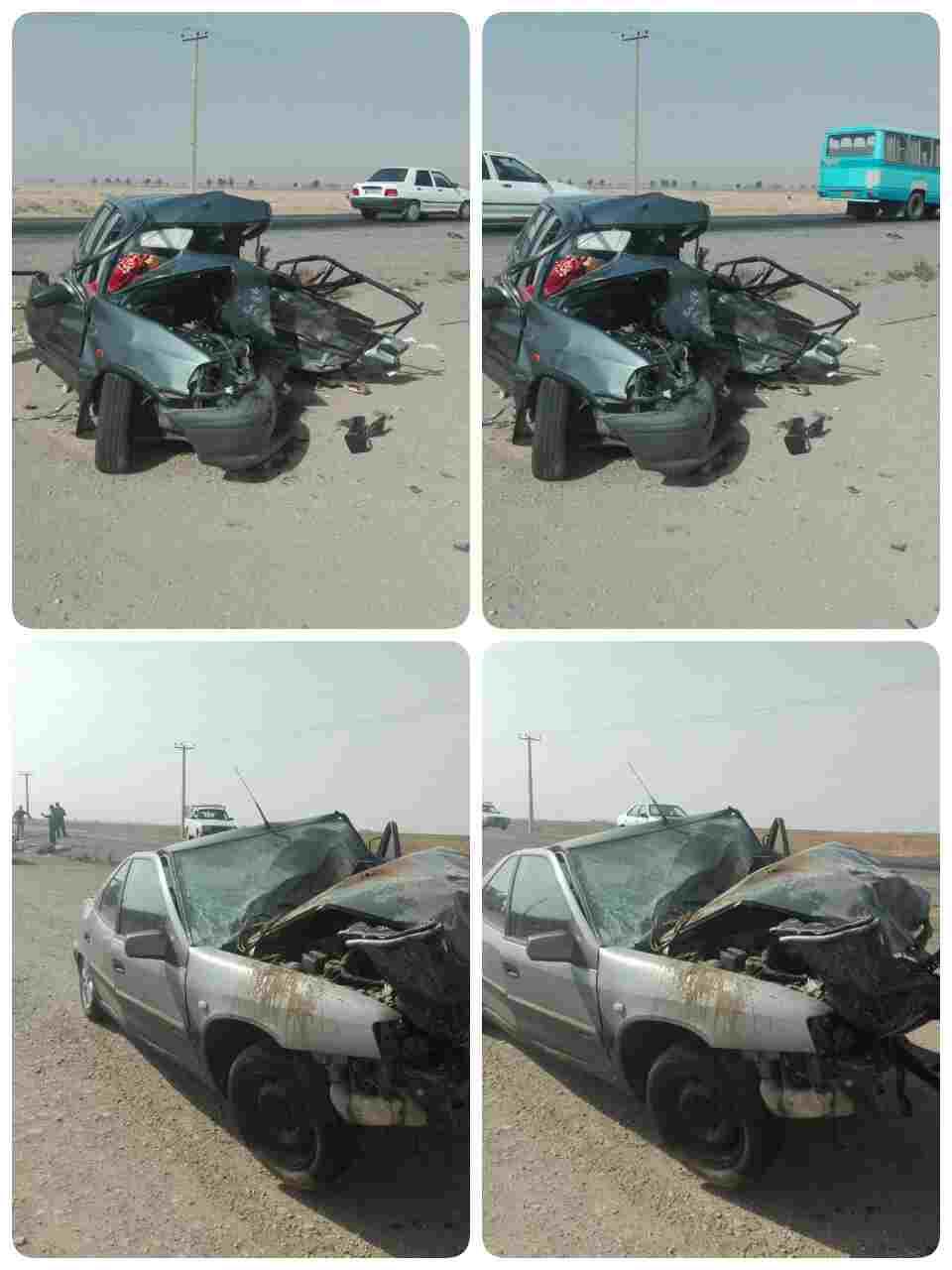تصادف مرگبار در جاده قدیم تهران - ساوه (+عکس)