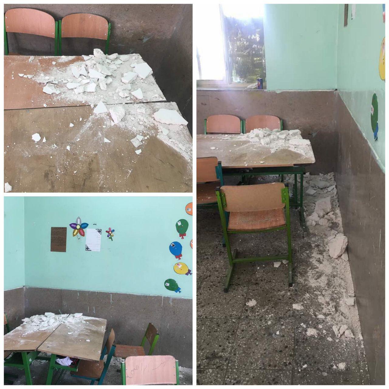 تلگرام مداحی استان بوشهر ریزش سقف مدرسه ای در «دیر» بوشهر (+عکس)