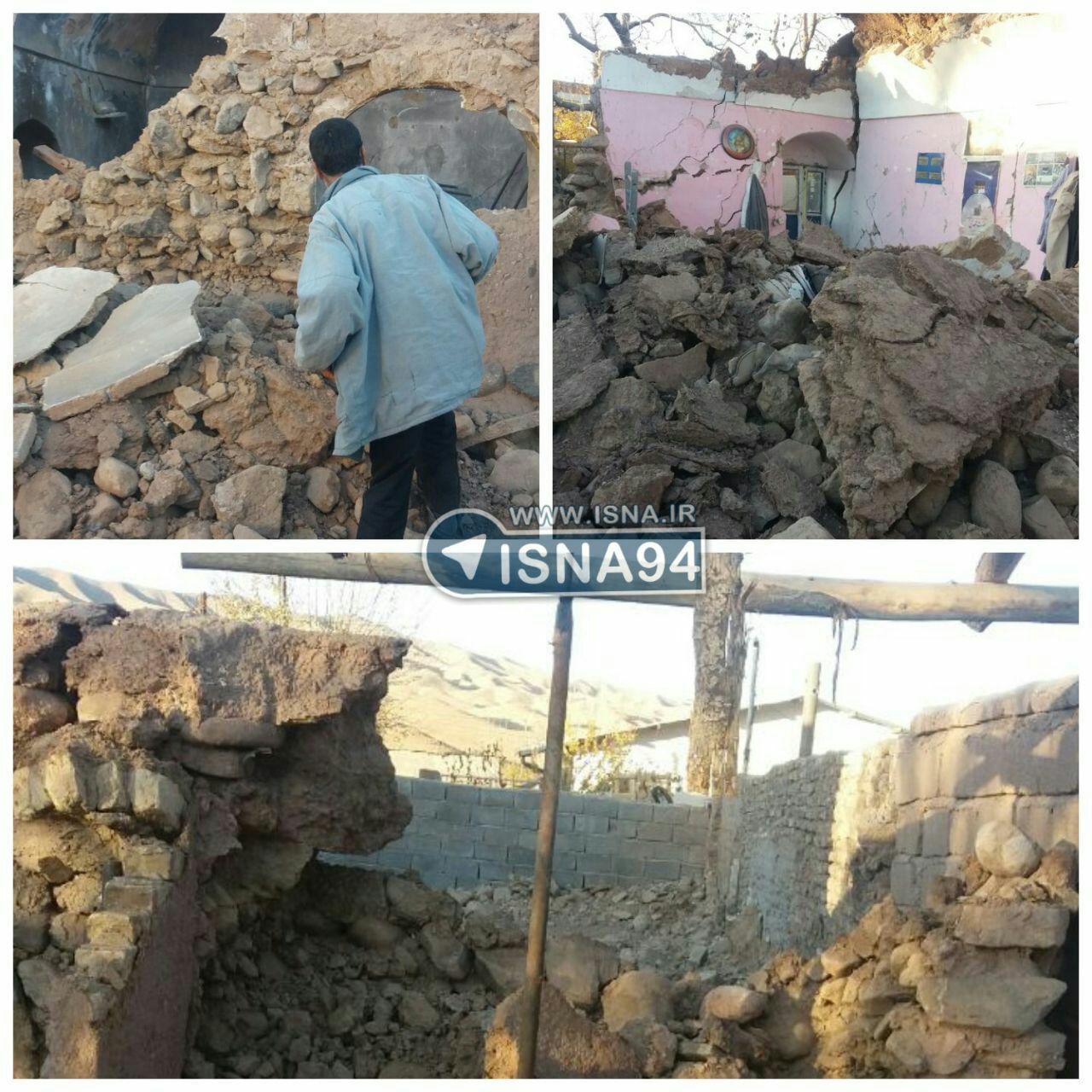 خسارت زلزله 6.1 ریشتری استان کرمان (عکس)