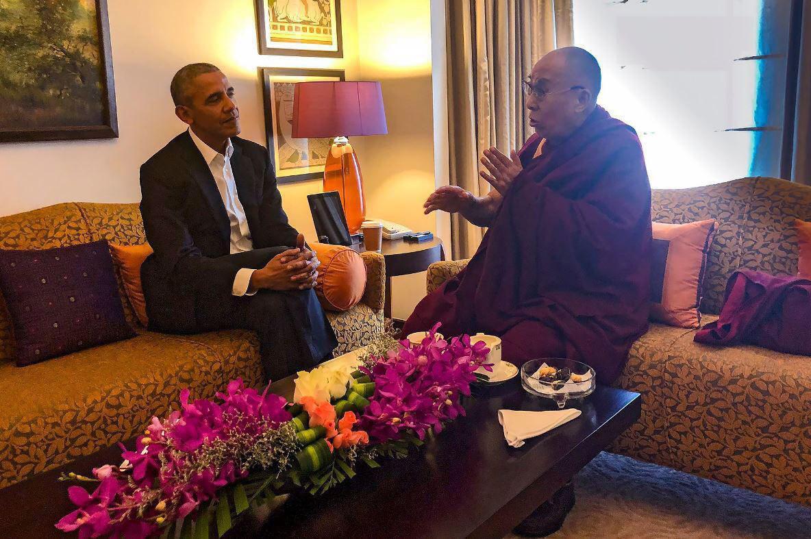 دیدار اوباما با رهبر معنوی بوداییان (عکس)