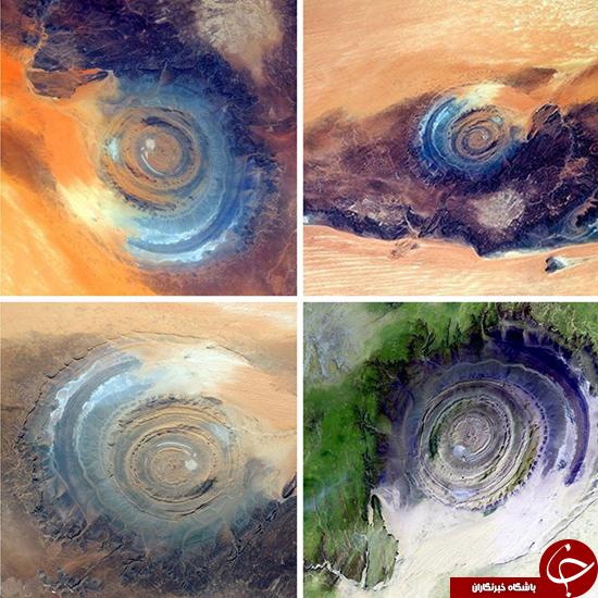 چشم ساهارا، پدیدهای در ابعاد 50 کیلومتر (+عکس)