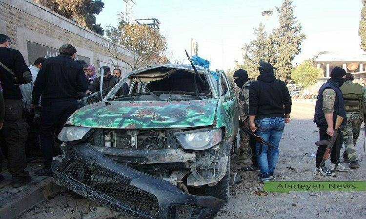 کشته شدن 4 فرمانده جبهه النصر در خودرو (عکس)