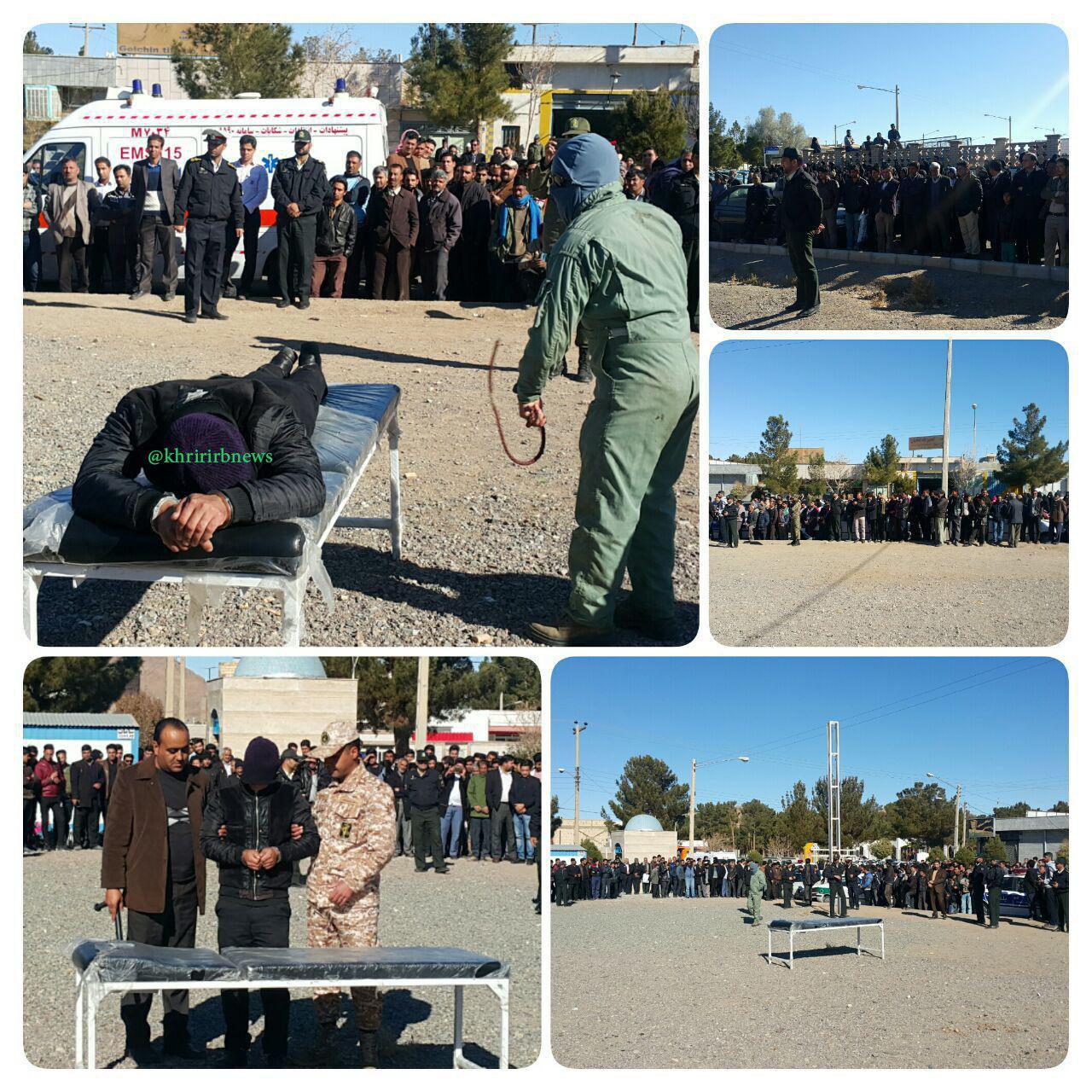 اجرای حکم شلاق در ملاعام به اتهام تهدید به چاقو در خراسان (عکس)