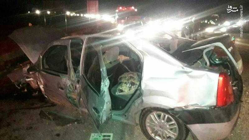 واژگونی مرگبار ال۹۰ در جاده اشتهارد- ماهدشت (عکس)