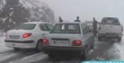 اولین برف پائیزی در طالقان استان البرز (فیلم)