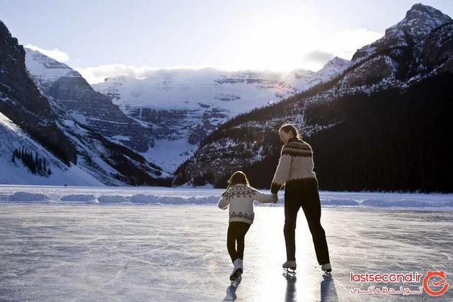 زیباترین تصاویر از اسکی روی یخ