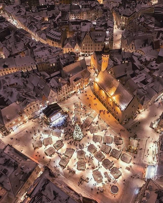 بازار کریسمس در استونی (عکس)