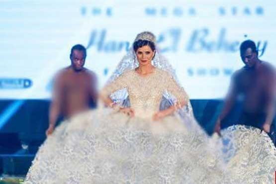 مدل مصری با لباسش جنجال به پا کرد (+عکس)