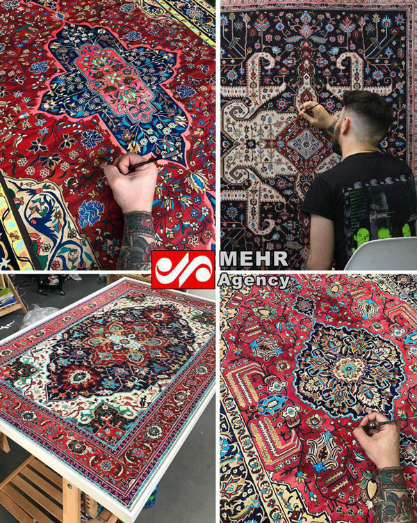 نقاشیهای زیبای هنرمند آمریکایی از فرش ایرانی (عکس)
