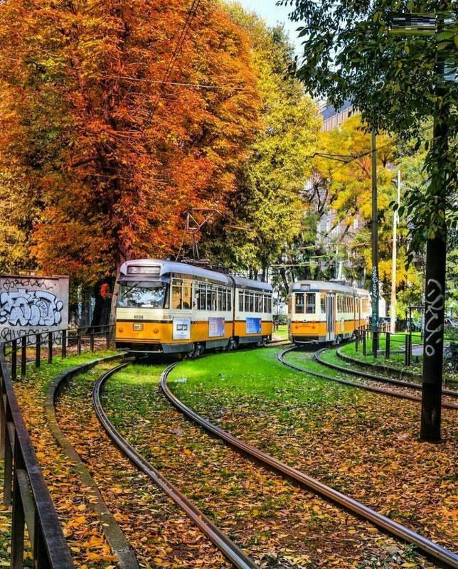 طبیعت زیبای پاییزی در میلان ایتالیا (عکس)