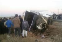 8 کشته و 40 زخمی در تصادف اتوبوس راهیان نور دانش آموزان دختر (+عکس)
