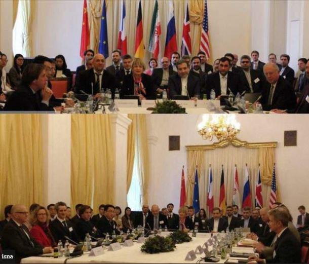 توقف جلسه برجام به دلیل پرچم ایران (عکس)