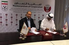 امضای تفاهم نامه همکاری فدراسیونهای فوتبال ایران و قطر