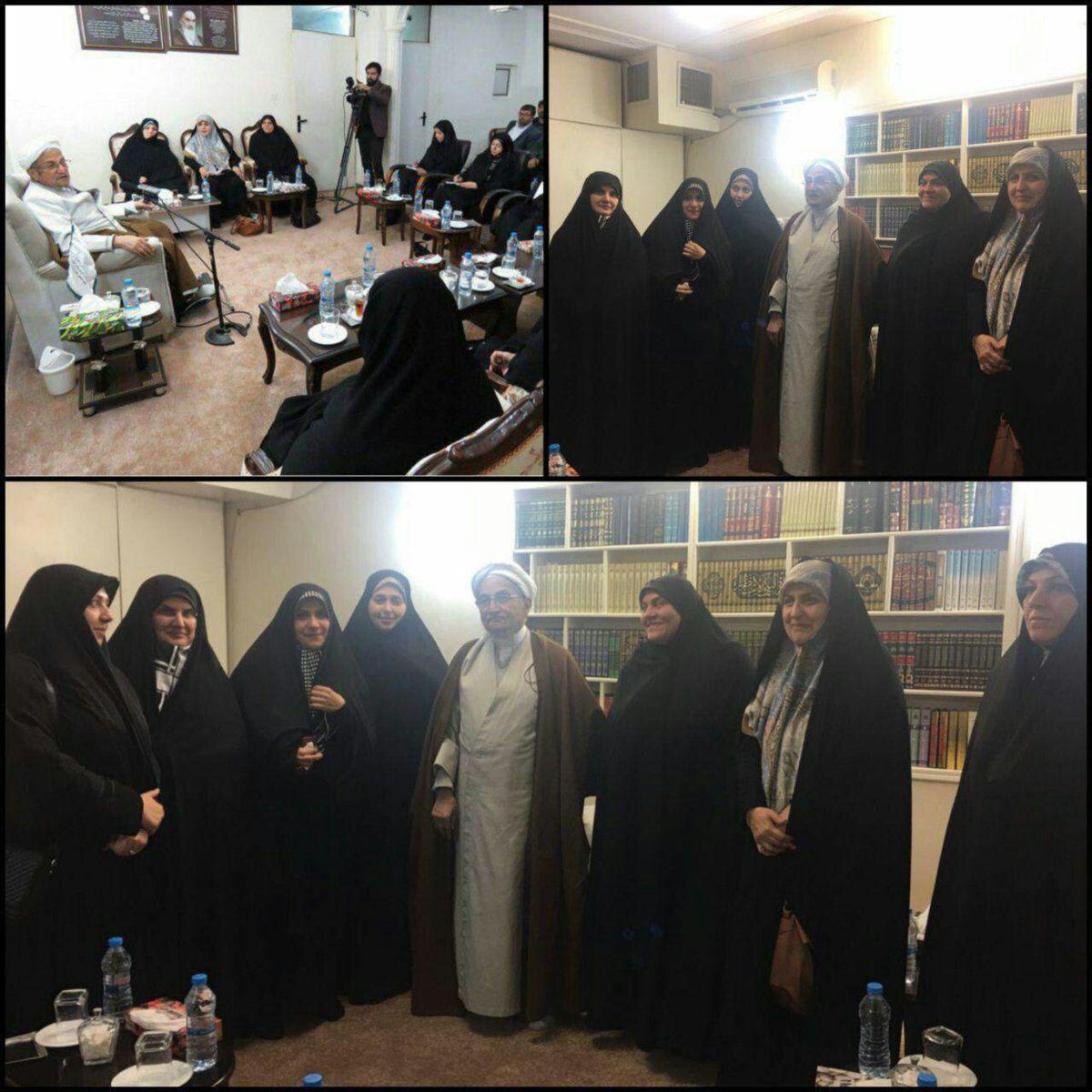 دیدار جمعی از نمایندگان زن مجلس با آیت الله جوادی آملی (عکس)