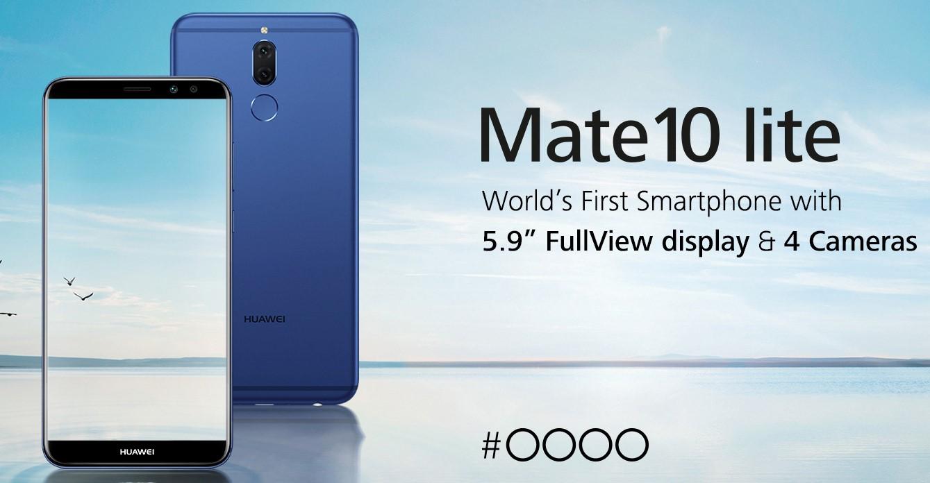 HUAWEI Mate 10 lite، اولین گوشی هوشمند با چهار دوربین