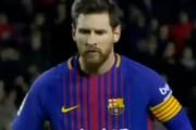 پنالتی از دست رفته بارسلونا توسط لیونل مسی در بازی با دپورتیوو (فیلم)