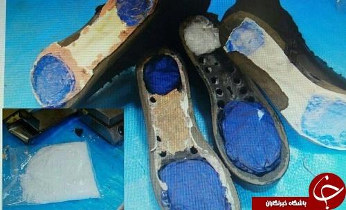 کشف ماده مخدر شیشه از داخل پاشنه کفش (عکس)
