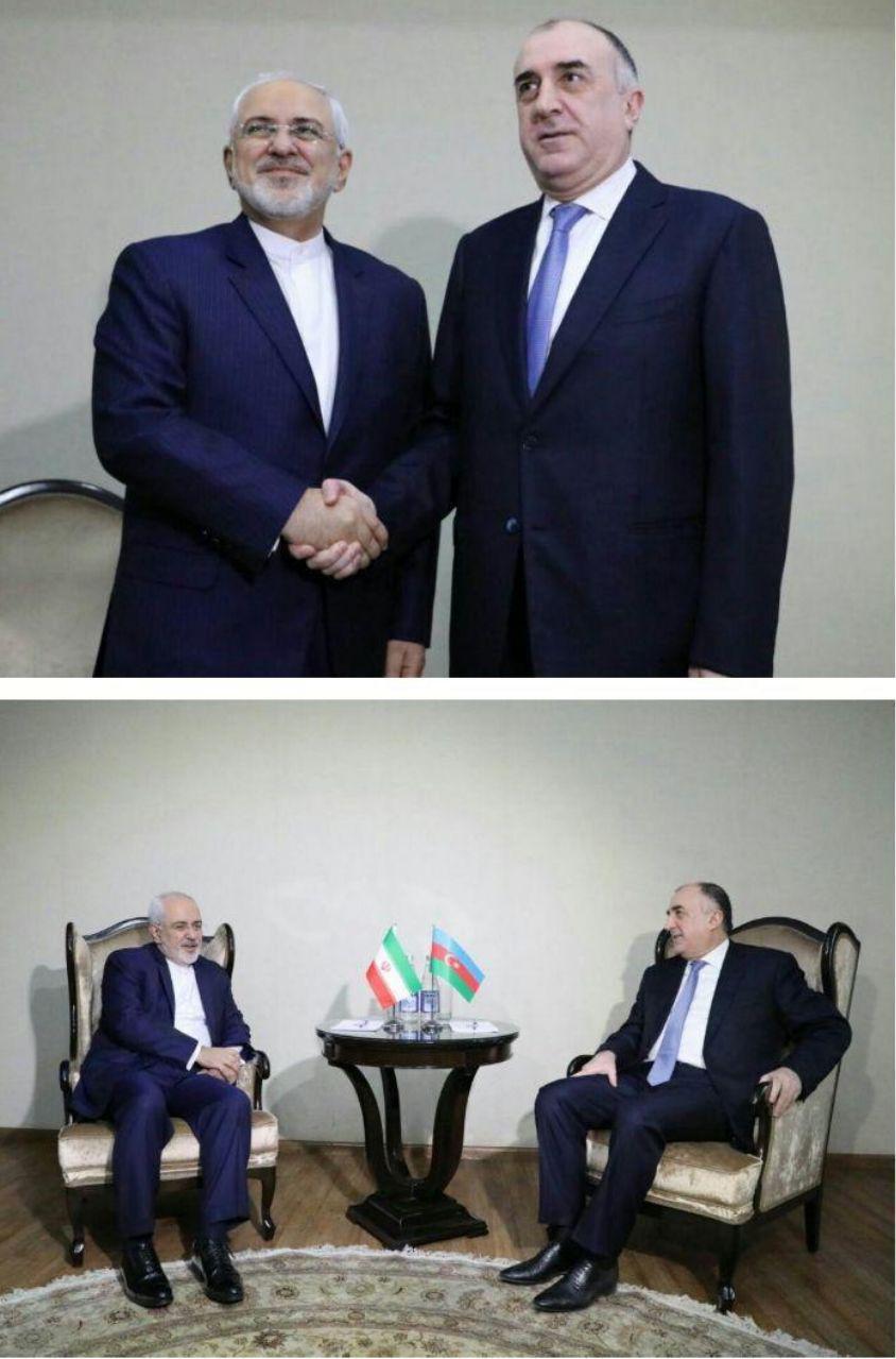 دیدار ظریف با وزیر خارجه آذربایجان (+عکس)