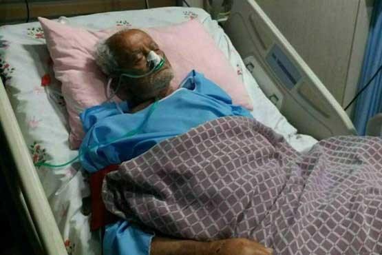 دهقان فداکار در بیمارستان بستری شد (عکس)