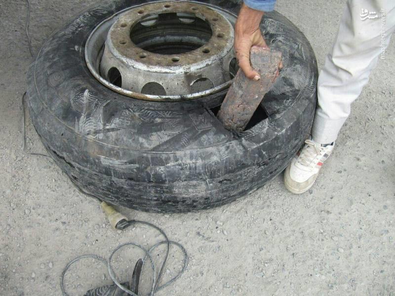 جاسازی ۱۸۴ قطعه شمش مس در یک کامیون (عکس)