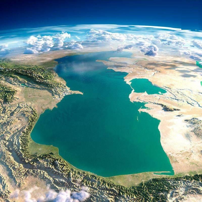 دریای خزر از چشم ماهواره (عکس)