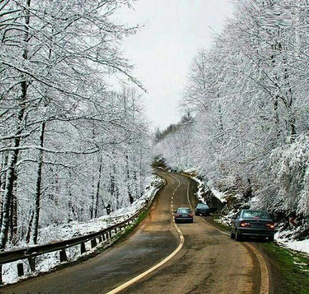 اولین بارش برف پاییزی در کلاردشت (عکس)