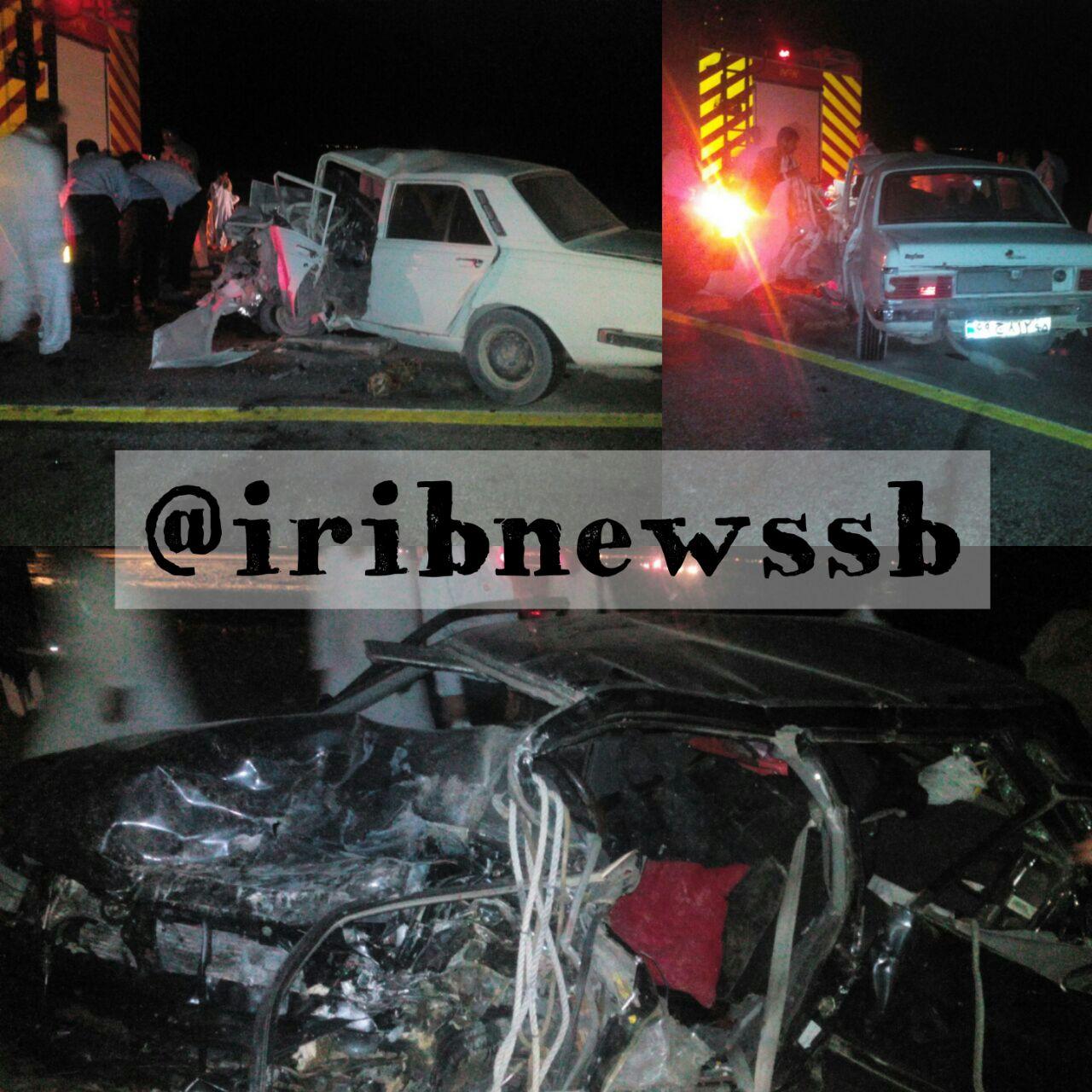 3 کشته در تصادف جاده سیستان و بلوچستان (+عکس)