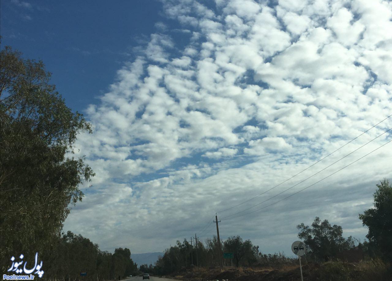 آسمان قصر شیرین (عکس)