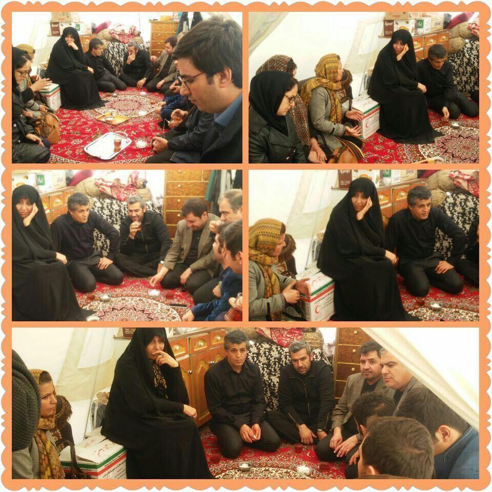 حضور فرزندان آیتالله هاشمی در چادر زلزلهزدگان سرپل ذهاب (عکس)
