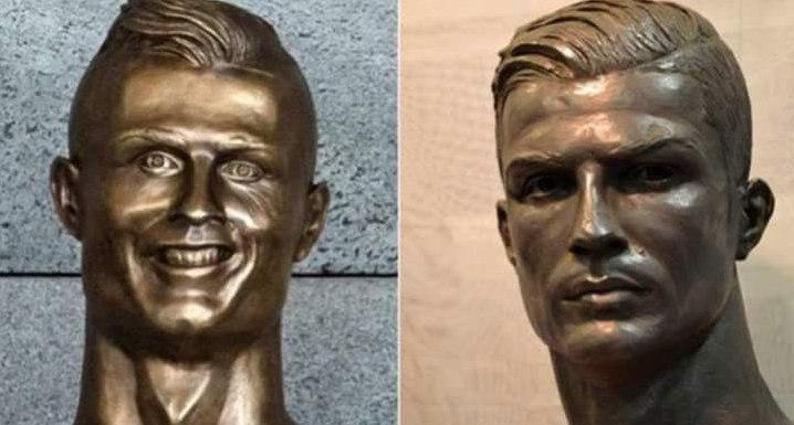 رونمایی از مجسمه جدید کریستیانو رونالدو (عکس)