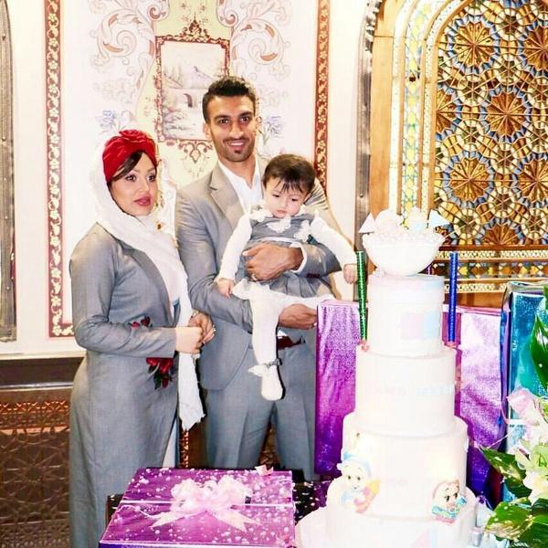 تیپ بازیکن پرسپولیس و همسرش در یک عروسی (عکس)