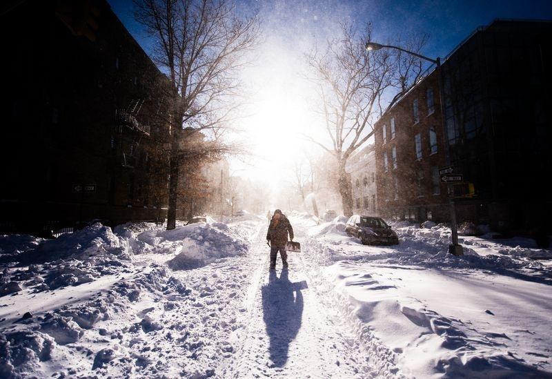 برف و کولاک بروکلین (عکس)