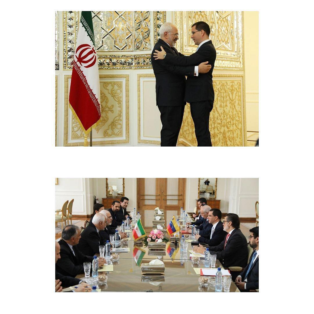 دیدار وزیر خارجه ونزوئلا با ظریف (عکس)