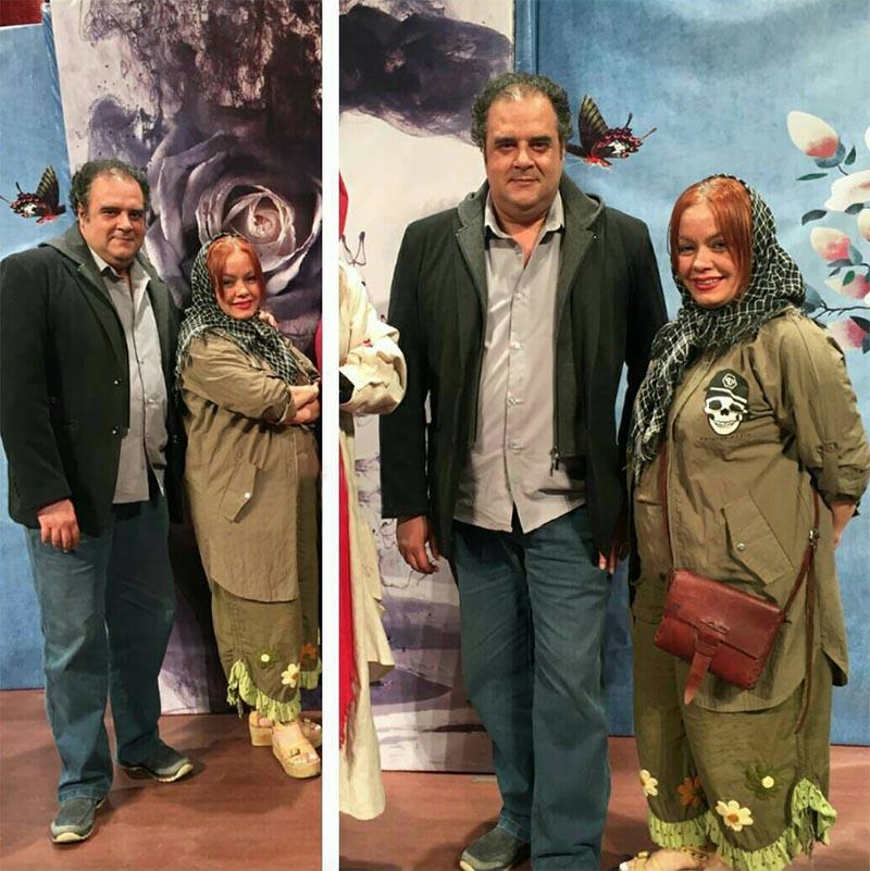 هومن برقنورد و همسرش دیشب در یک مراسم (عکس)