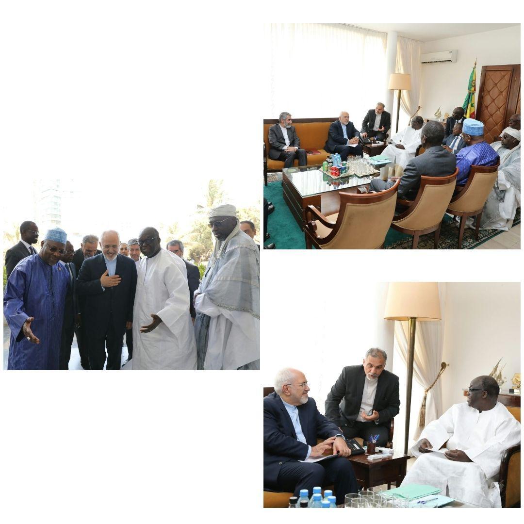 دیدار ظریف با رئیس مجلس سنگال (عکس)