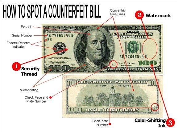 چگونه اسکناس دلار تقلبی را از اصل تشخیص دهیم؟ (+عکس)