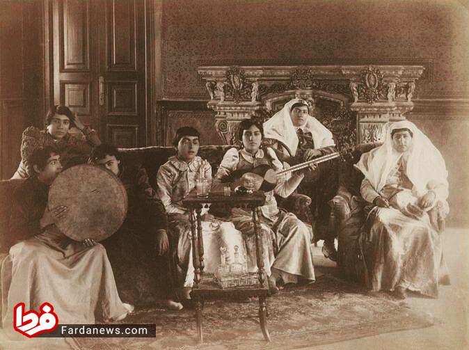 خانمهای نوازنده دربار قاجارها (عکس)