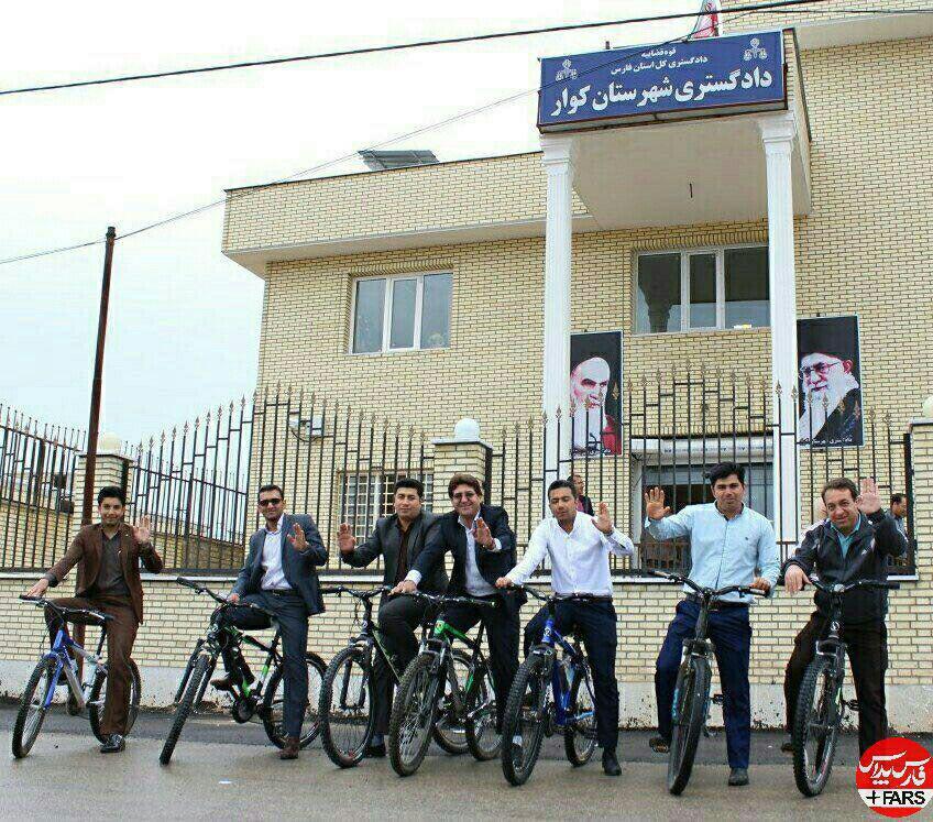 قاضی های دوچرخه سوار در ایران (عکس)